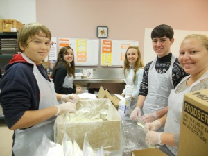 Ottawa High Schoolers help elderly Franklin County Residents stay  in their homes by  preparing and delivering hot meals.